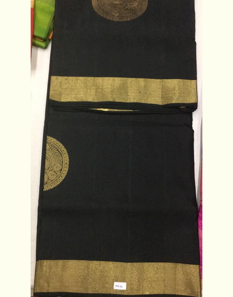 Black Designer Uppada Silk Saree