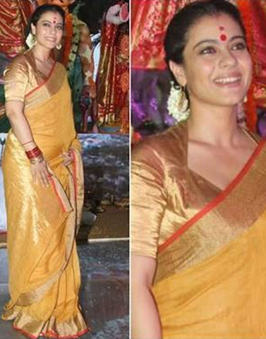 Mustard Yellow Pure Linen Handloom Saree
