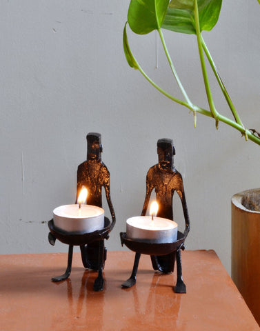 wrought iron Tribal Candle stand