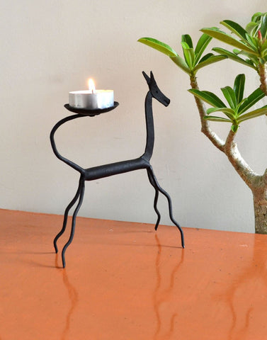 wrought iron Horse Candle stand