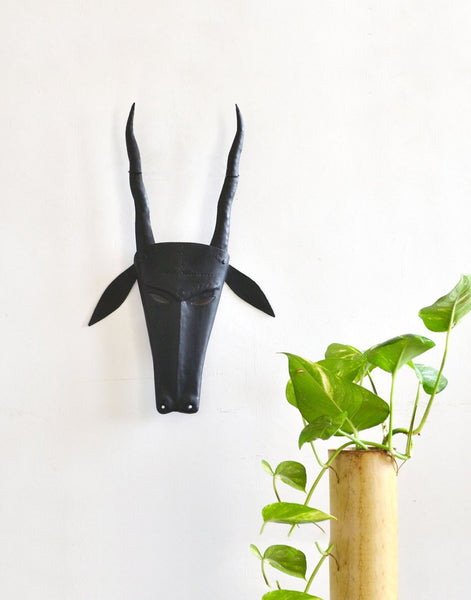 Copy of wrought iron deer mask