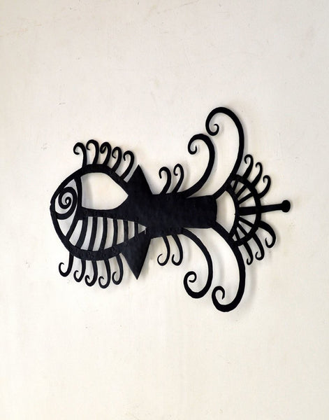 wrought iron abstract fish
