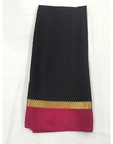 Rich Black Mysore silk Saree