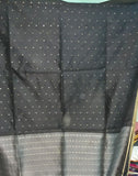 Rich Black Handloom Ahinsa Silk Saree