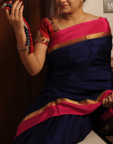 Royal Blue Mysore silk Saree