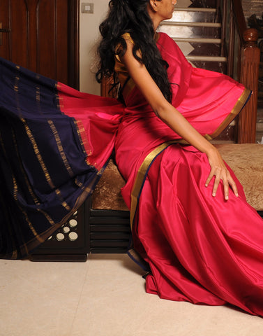 Pink Mysore silk Saree