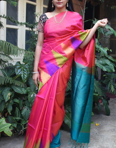 Appealing Pink Bendex  Silk Saree