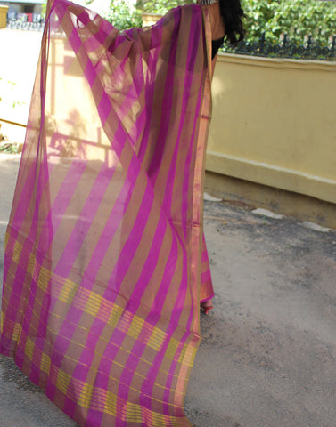 Beautiful Pink Narayanpet Handloom