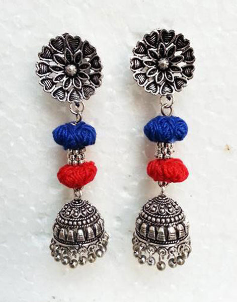 Jumka With Thread Beads