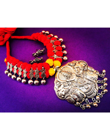Thread With Krishna Pendent Set