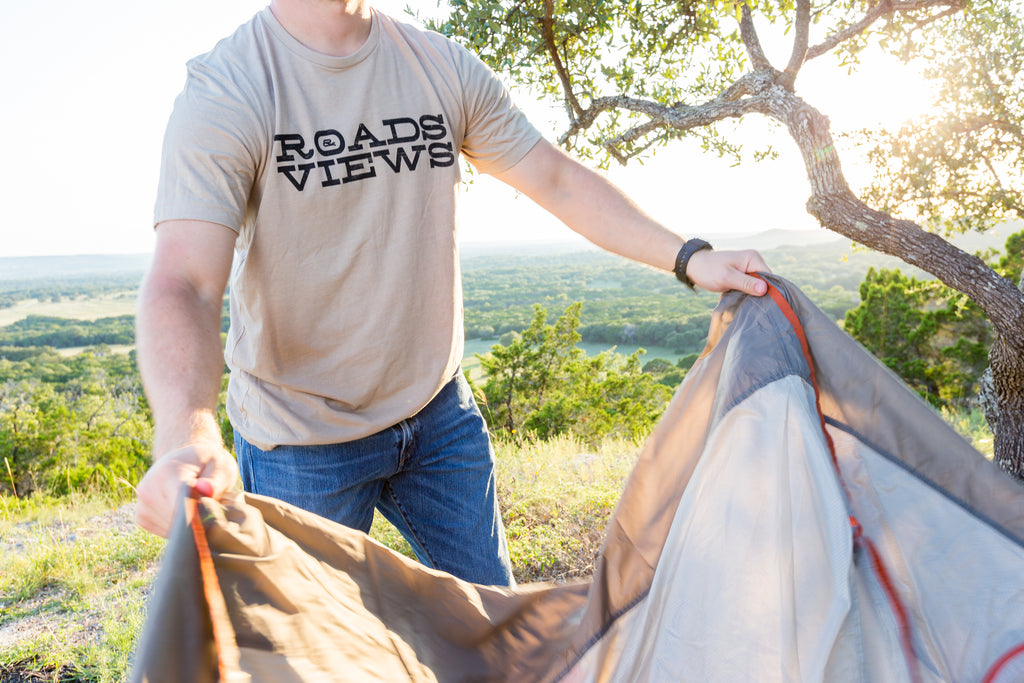 Logo Shirt - Tan - Roads & Views