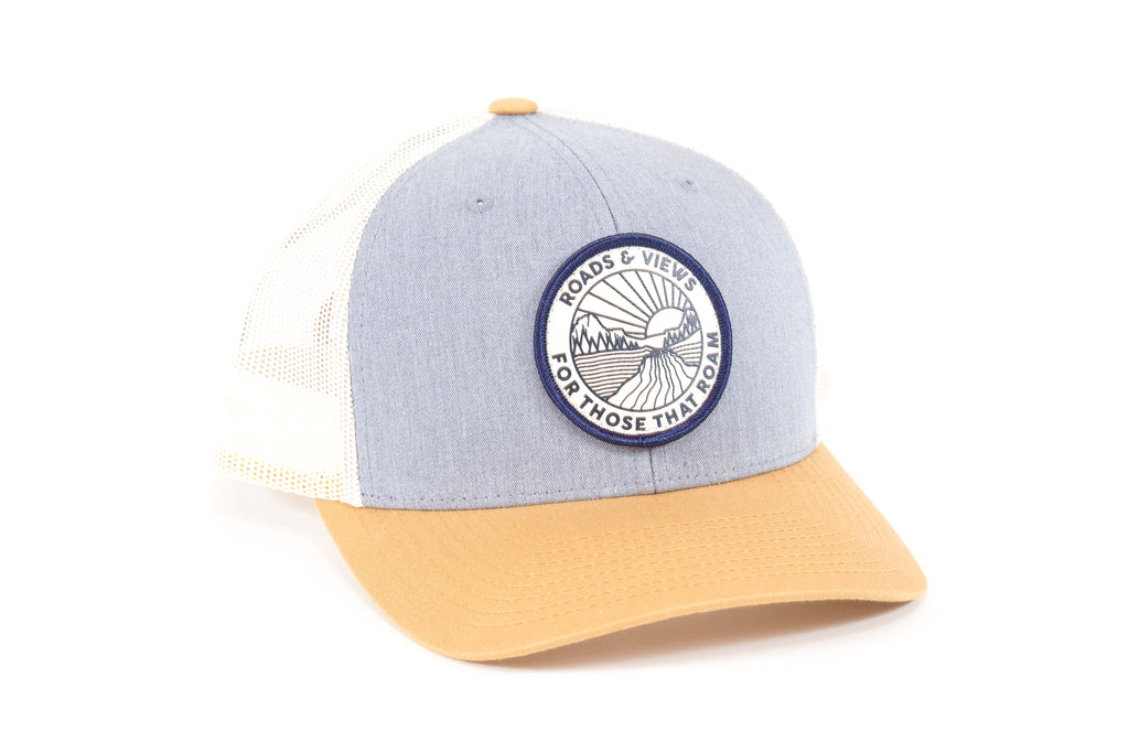 Sunrise Trucker - Grey/Tan - Roads & Views
