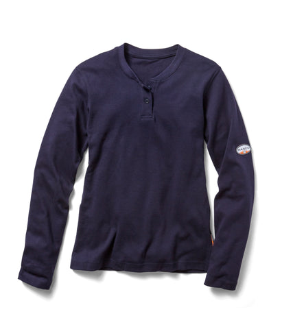 Women's Navy Henley