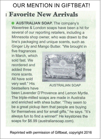 Australian Soap Mentioned in Giftbeat