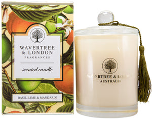 Wavertree and London Soy candle - Basil Lime Mandarin