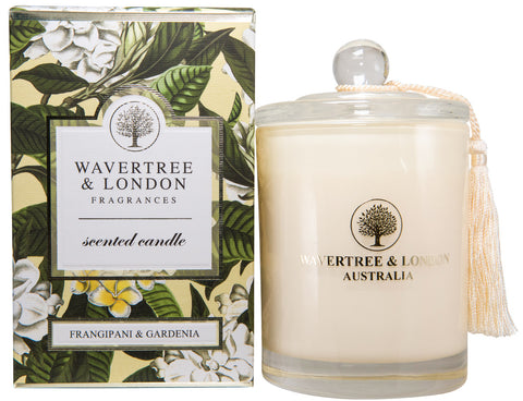 Wavertree and London Soy candle - Frangipani Gardenia