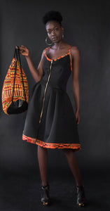 Exposed Ambazonia-The tie back scuba dress