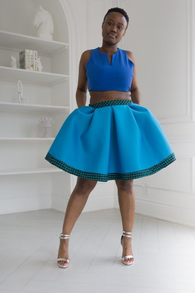 Blueberry sorbet skirt
