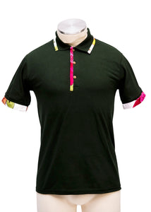 The Green floral polo