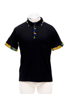 The blue ankara polo