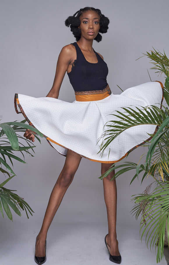 Ambazonia skirt in white