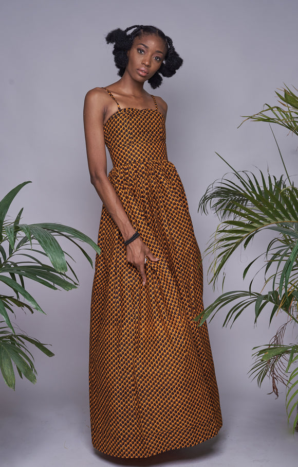 Tear drop maxi dress