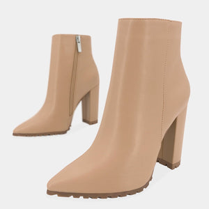 CARLY BOTINES DE VINIPIEL COLOR CAMEL