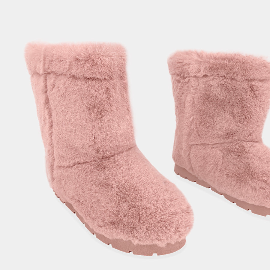DREAMS BOTAS DE PELUCHE COLOR BLUSH PARA DÍAS FRIOS