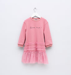 Long Pink Sweatshirt