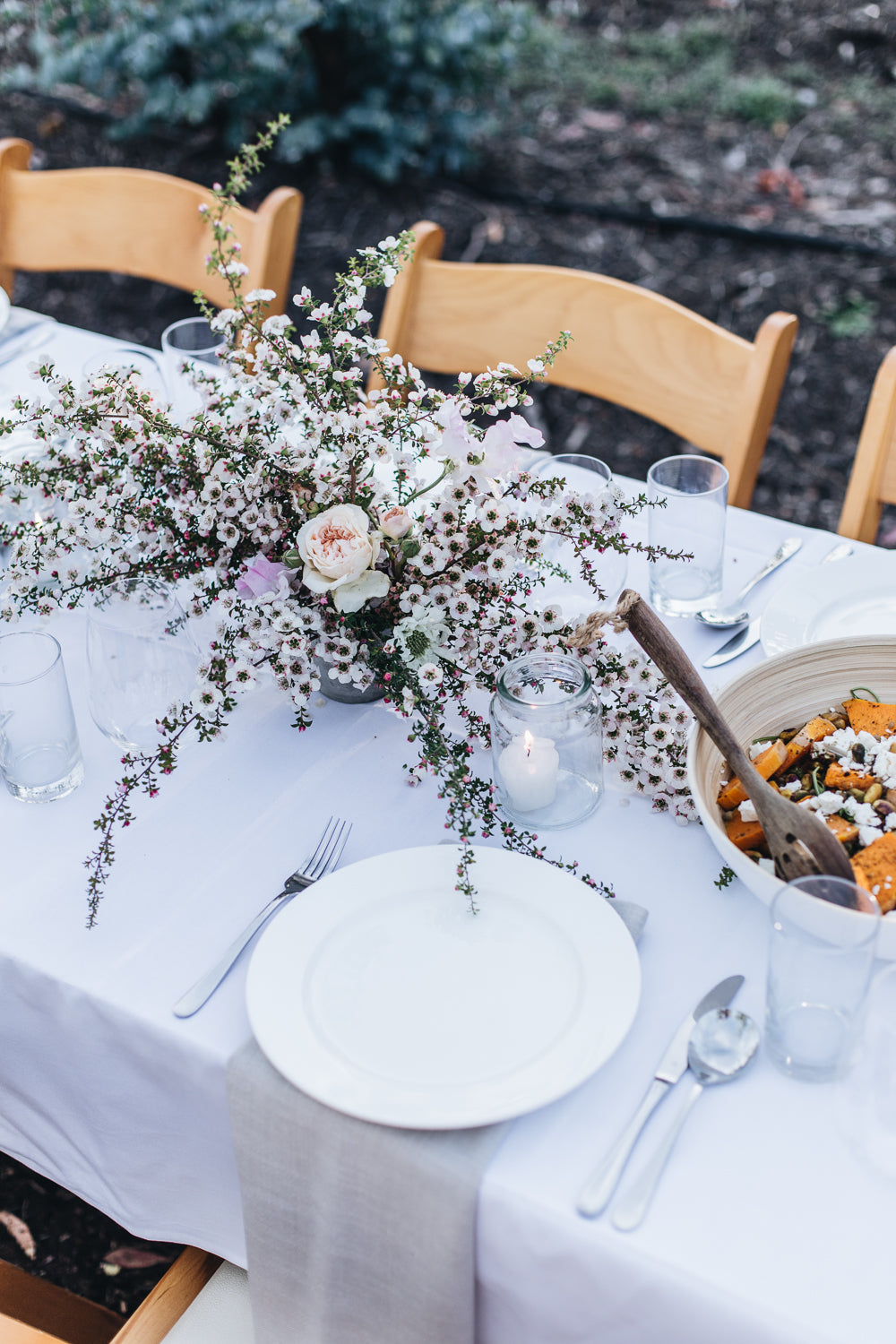 Affordable wedding reception flowers
