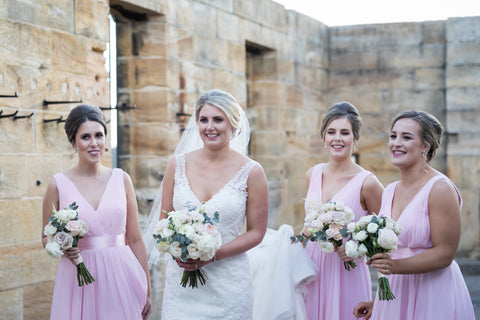 Bridesmaids bouquet Cockatoo Island