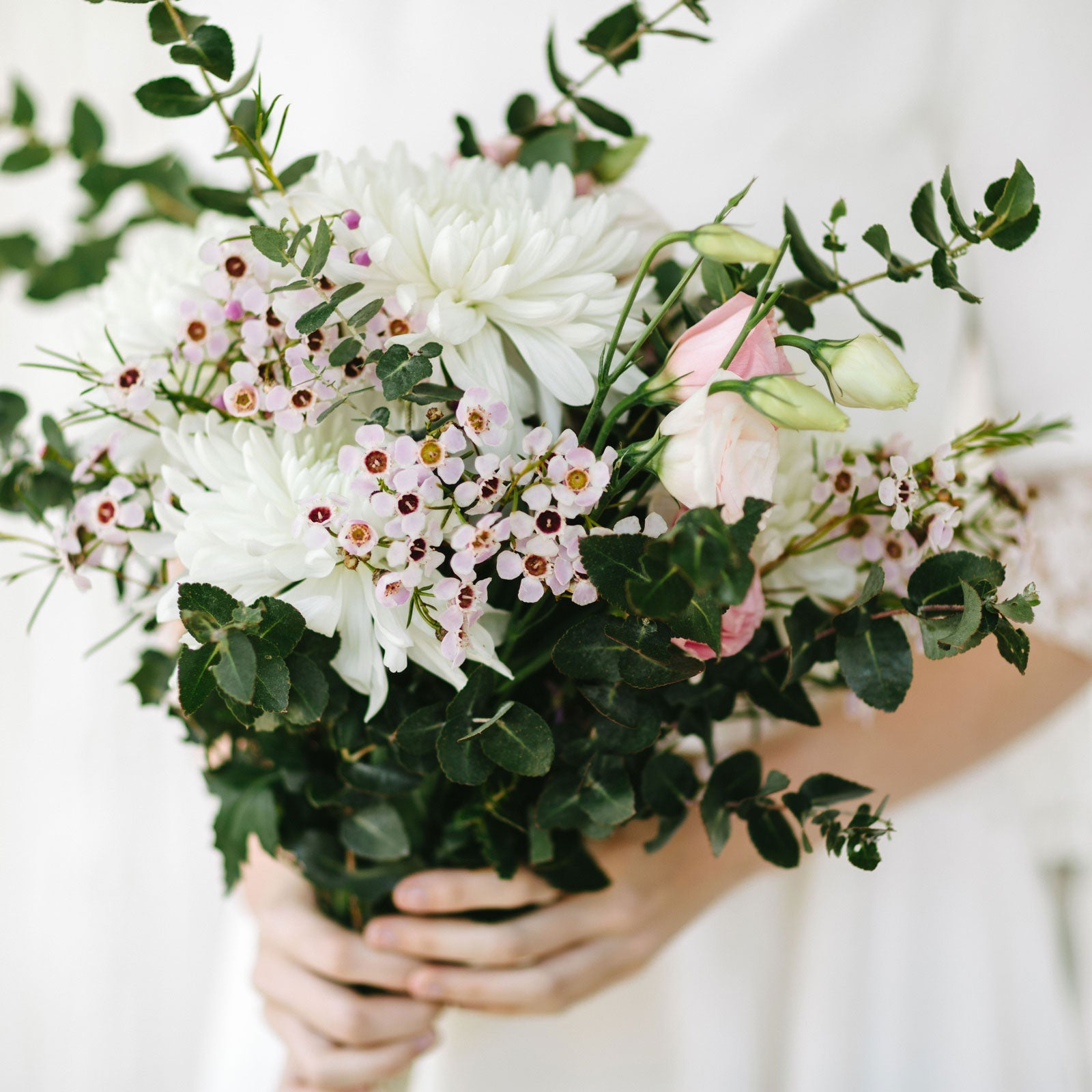Haberfield florist buy flowers online in store delivery pickup bridal bouquet white with wax flowers izmirmasajfo Image collections