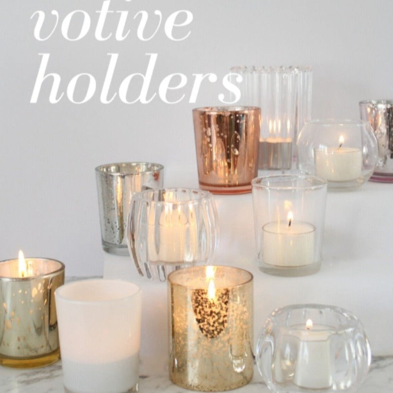 Wedding Reception Guest Tables - Candle Votives Hire