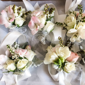 Wedding Corsage on a Ribbon