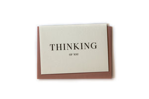 Gift Card - Letterpress - Thinking of You