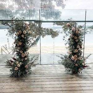 Wedding Ceremony Floral Towers