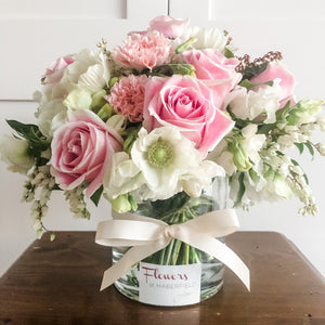 Posy - Pink and White Posy in a Vase - Premium