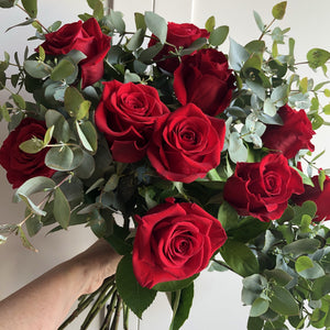 Valentine's Day - Bouquet of Premium One Dozen Red Roses Bouquet