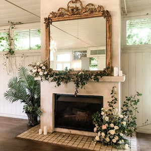 Wedding Fireplace Arrangement