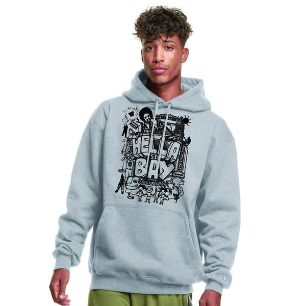 Champion | Hella Bay 510 Sketch Hoodie Hoodies Hella Bay Clothing Small