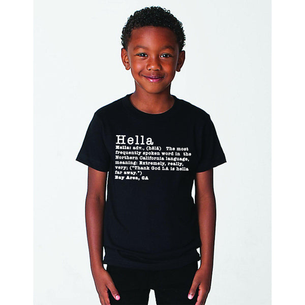 Hella Cute Tee Hella Bay Clothing YS Black