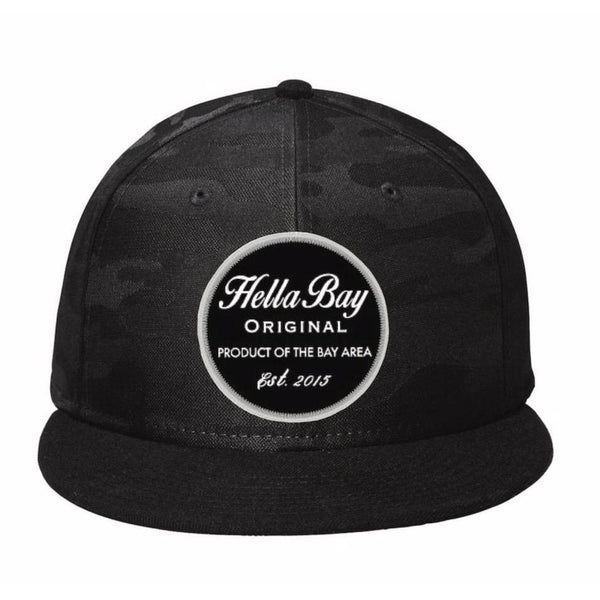New Era Camo Snapback | Black Hats Hella Bay Clothing