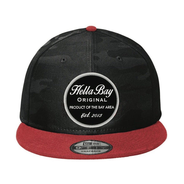 New Era Camo Snapback Red | Black Hats Hella Bay Clothing