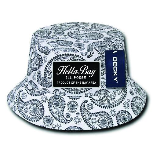 Paisley Bucket Hat Hat Hella Bay Clothing S/M