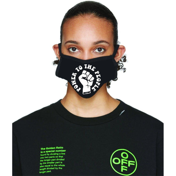 Power To The People Face Mask Face Masks Hella Bay Clothing