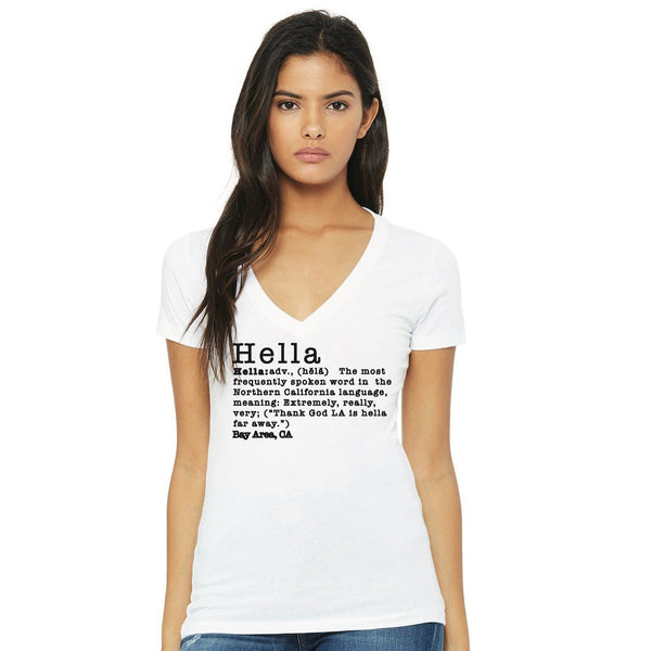 V-Neck Hella Tee Hella Bay Clothing Small White