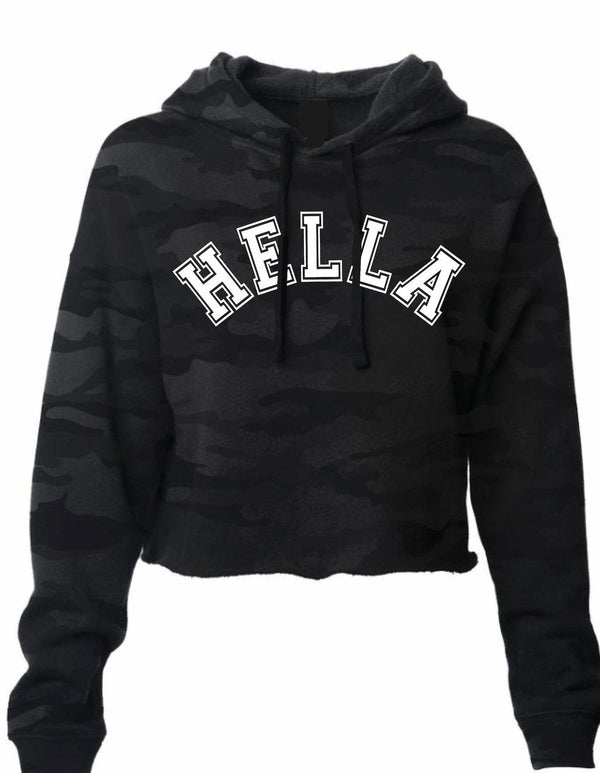 Varsity Black Camo Hella Bay Clothing Small