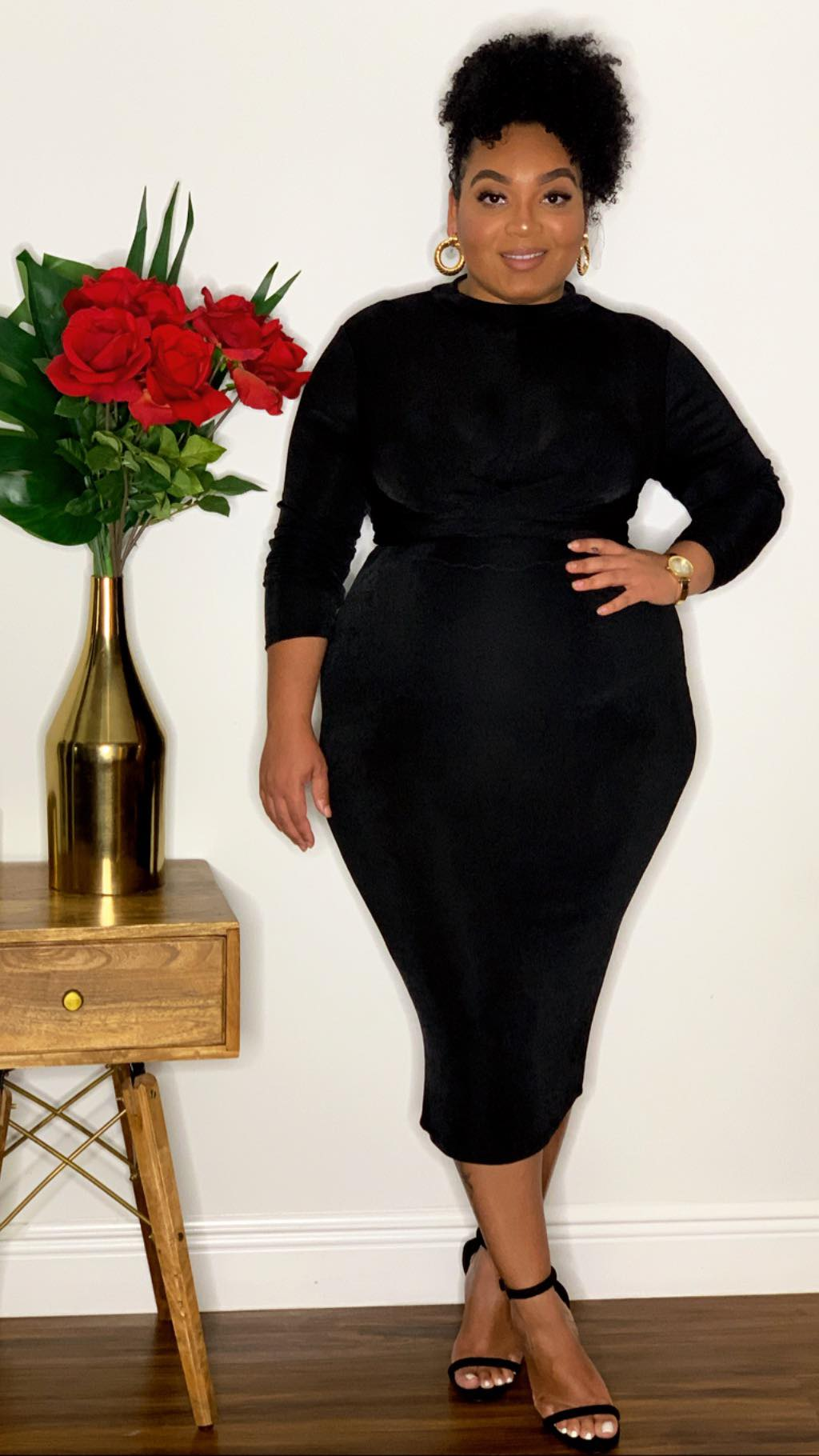 Snatched Bodied Dress Black