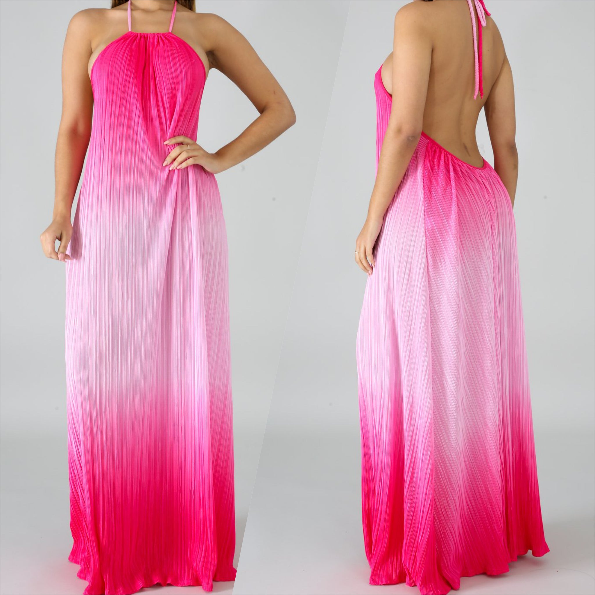 Powerful Pink Maxi Dress