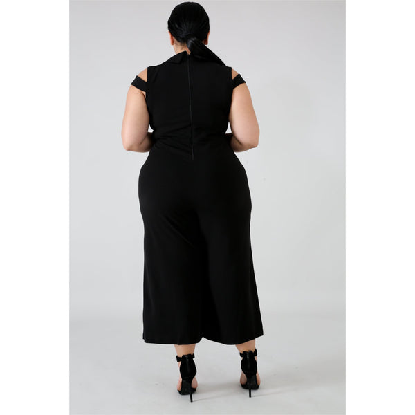 Ebony Professional Casual Jumpsuit